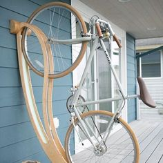 Love this bike hanger via @designwanted #Designspiration #design #creative - View more on http://ift.tt/1LVCgmr