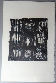 Vieira da Silva black & blue chaos lithograph and confusion Portugal, French Artists, Surreal Art, Cool Artwork, Wall Art Decor, Decoration, Art Projects, Fine Art Prints, Original Art