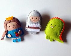 Little Red Riding Hood carina feltro set di spille di ovejitabe