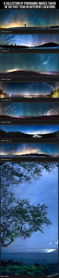 In photographic terms, a panorama is basically any wide-angle view or representation of a physical space, whether in painting, drawing, photography, film/video, or a three-dimensional model. These images show stunning panoramic views from around the world.