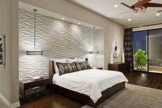 Thiết kế phòng ngủ với tường đẹp hiện đại VỚI vách mỹ thuật