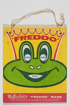 """A """"Freddo"""" with a bag that can be reused as a Freddo mask."""