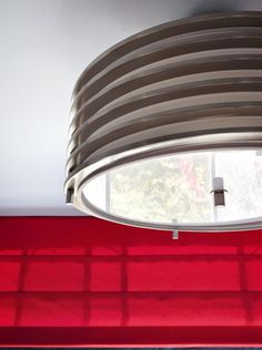 Polished-Nickel Art Deco Pendant >> http://www.hgtvremodels.com/interiors/a-boys-bedroom-plays-with-red/index.html?soc=pinterest