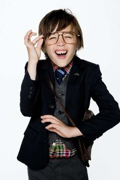 Kids wear glasses with style
