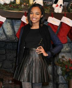 December Celeb Sightings China Anne McClain posed for a cute pic as she stopped at Knott's Merry Farm.