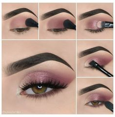 Makeup Eye Looks, Eye Makeup Steps, Eye Makeup Art, Simple Eye Makeup, Contour Makeup, Makeup For Brown Eyes, Smokey Eye Makeup, Skin Makeup, Eyeshadow Makeup