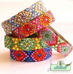 Swarovski Crystal Friendship Bracelet Mango by DILETTANTEsoutache