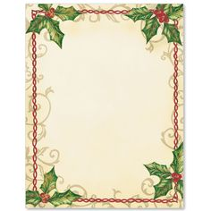 Holiday Wishes Letter Paper  Letterhead Paper