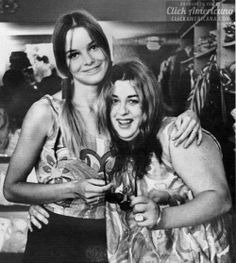 PHILLIPS + CASS - mamas and the papas black and white vintage 60s 1960 portrait hippie pigtail hairstyle