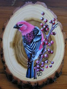 Watercolor Painting Techniques, Acrylic Painting For Beginners, Wood Painting Art, Pallet Painting, Watercolor Paintings, African Art Paintings, Winter Painting, Wood Burning Art, Bird Artwork