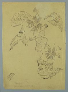 DRAWING, TEXTILE DESIGN: TROPICAL FLOWERS, 1912–13  This is a Drawing. It was designed by Raoul Dufy and manufactured by Bianchini Ferier, Inc.. It is dated 1912–13 and we acquired it in 1985.