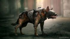Enhanced mecha dogs Wolfenstein