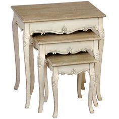 Country Nest Of Tables SIDE TABLES