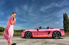 Full HD Carwrap on Porsche Boxster for TutuChic handmade cardigans #tutuchic…
