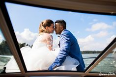 A beautiful ceremony in the rain at a summer cottage, couple portraits on a boat and then the sun came out to celebrate at Adventure Valley at this Porvoo Wedding. Couple Portraits, Couple Photos, Finland, Groom, Adventure, Bride, Celebrities, Wedding Dresses, Amazing
