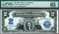HGR 1899 $2 Silver Cert RARE Grade PMG Gem UNC 65EPQ | eBay