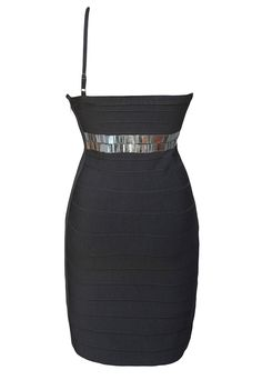 OandW Grey Strapless Metal Detail Bandage Dress >>> Find out more about the great product at the image link. (This is an affiliate link and I receive a commission for the sales)
