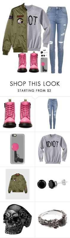 """""""wtf????"""" by alpedo ❤ liked on Polyvore featuring Dr. Martens, Topshop, Casetify, Pull&Bear, Alexander McQueen and Rachel Jackson"""