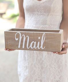 Look at this Rustic 'Mail' Box on #zulily today!