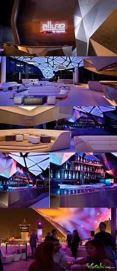 Allure nightclub, has a striking design that adds another level of glamour.