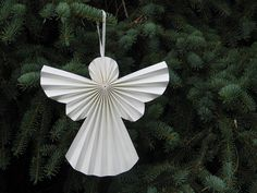 pleated paper angel decoration by love it want it buy it | notonthehighstreet.com