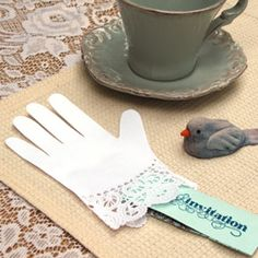Disney Parties: Lacy Paper Glove Invitations | Spoonful