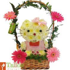 Kitty hecho de flores