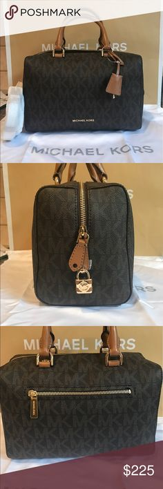 ♈️$185!! Michael Kors Kirby Gorgeous small michael kors Kirby bag, cross body strap is detachable! Has zipper outside pocket on back and lock detail! Great space inside! Perfect size for everyday! Michael Kors Bags Crossbody Bags