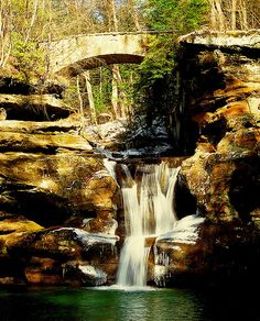 Old Mans Cave Upper Falls Hocking Hills Ohio - a must do while we live in Ohio.