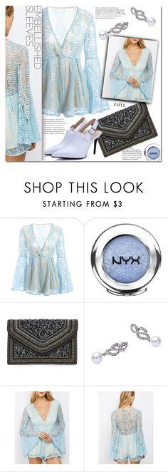 """Make a Statement: Embellished Sleeves"" by duma-duma ❤ liked on Polyvore featuring NYX, Steve Madden and embellishedsleeves"