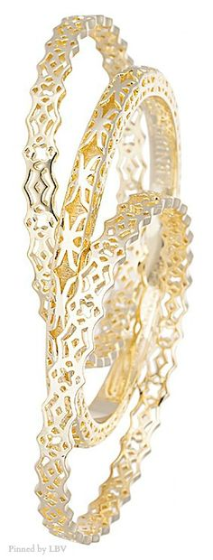 kendra-scott-raleigh-bangle-bracelets-in-gold | LBV ♥✤ | BeStayBeautiful