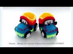 zapatos de bebe tejidos a crochet - tejer - YouTube