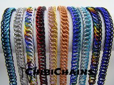 Bracelets - Half Persian 4 in 1 by Chibichains #Chainmail #chainmaille #Halfpersian #bracelets #Chibichains