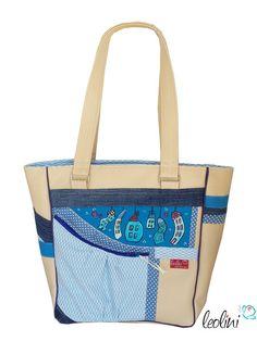 Schultertaschen - Schultertasche Shopper mit Malerei city - ein Designerstück von leolini-taschen bei DaWanda