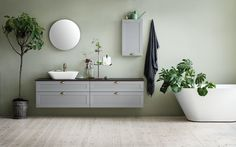 Beautiful bathroom cabinet from Swedish Svedbergs called SiD (Svedbergs individual Design) in combination with STIL-fronts Small Bathroom Furniture, Modern Bathroom, Bathroom Ideas, Colorful Bathroom, Bathroom Green, Countertop Basin, Countertops, Relaxing Bathroom, Drawer Inserts