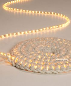Light Carpet by Johanna Hyrkäs (light rope crocheted into a carpet)
