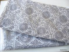 Vintage Indian Pure Cotton White Sari    Quilting by theDelhiStore, $18.00