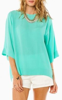 Alanis Blouse in Mint