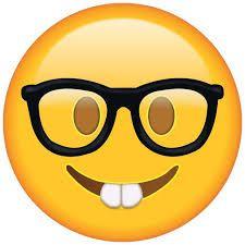 Shop Nerd with Glasses - Emoji Postcard created by MaxEmbregtsStore. Funny Emoji Faces, Cute Emoji, Funny Smiley, Emoji Pictures, Emoji Images, Emojis Png, Emoji Cake, Cute Nerd, Emoji Symbols
