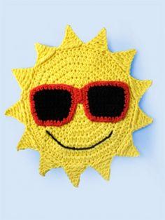 'Gotta Wear Shades' Dishcloth | Yarn | Free Knitting Patterns | Crochet Patterns | Yarnspirations