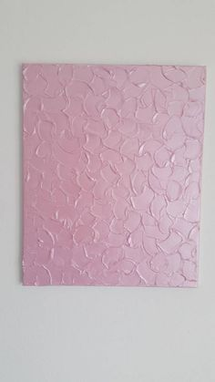 Pink textured painting with metallic effect This original textured metallic painting is very modern and suites well into minimal modern interiors. Its painted on a canvas and stretched onto a wooden frame. Pink color with metallic effect. Dimensions: 50 x 40 cm Thank you for visiting