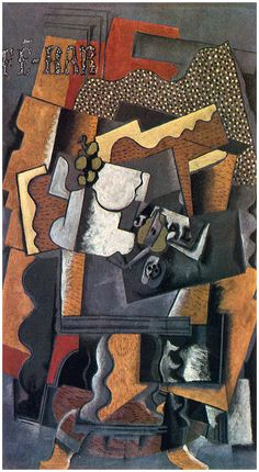 The Athenaeum - Still Life on a Table (Georges Braque - Movement: Cubism. Pablo Picasso, Picasso And Braque, Georges Braque Cubism, Collages, Synthetic Cubism, Rene Magritte, Cubism Art, Philadelphia Museum Of Art, Philadelphia Pa