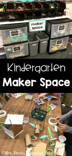 Space in Kindergarten Come see my Maker Space! Loads of ideas for STEAM projects in your classroom. Byrd's Learning Tree)Come see my Maker Space! Loads of ideas for STEAM projects in your classroom. Kindergarten Classroom Layout, Space Classroom, Kindergarten Centers, Kindergarten Science, Classroom Design, Classroom Storage Ideas, Organization Ideas, Classroom Projects, Steam For Kindergarten