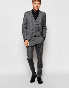 Image 1 - Selected Homme - Costume cintré - Gris