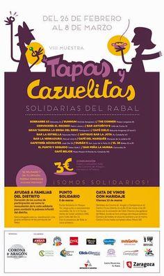 Tapas y cazuelitas es un restaurante de Zaragoza, que del 26 de Febrero al 8 de Marzo, destina una comisión para la ayuda de las familias del distrito y acabar o limitar la pobreza del mismo.