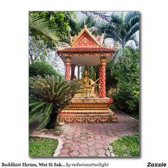 Buddhist Shrine, Wat Si Saket Temple, Laos Postcard