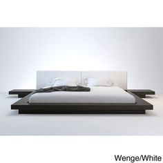 @Overstock - This Japanese-inspired Worth platform bed features a low profile wood frame with matching symmetrical nightstands. An upholstered leather headboard complements this lavish feng shui bed.http://www.overstock.com/Home-Garden/Worth-Full-size-Platform-Bed-with-2-Matching-Nightstands/7508733/product.html?CID=214117 $1,246.99