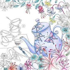 alice in wonderland adult coloring book - Google Search
