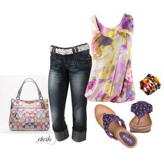 really affordable except the Coach purse...but love the shoes! Makes me think of Spring!, created by cbrile on Polyvore