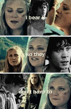 What we did. You don't have to do this alone. Bellamy and Clarke tumblr #The100 #Bellarke
